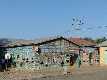 DAY 3: From Logia to Afrera salt lake - colourful cafe at last night´s accomodation (Photo: Ingrid)