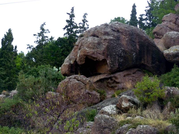 Impressive rocks of volcanic origin on Poros island, Greece (Photo: Janka)