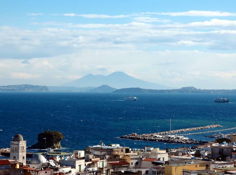 The Gulf of Naples and Vesuvius seen from Ischia island, Italy (Photo: Janka)