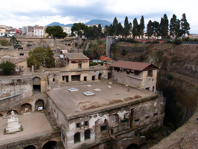 The Roman city of Herculaneum was buried by Vesuvius volcano in 79 A.D. (Photo: Janka)