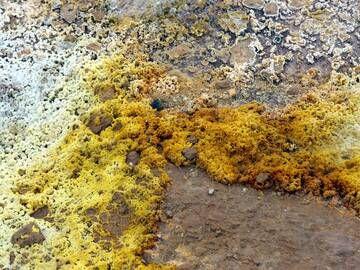 Sulphur deposits in Gunnuhver geothermal area, Reykjanes peninsula, Iceland (Photo: Janka)