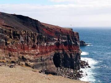 View on the colourful bird cliff of Krýsuvíkurbjarg on the southern coast of Reykjanes peninsula, Iceland (Photo: Janka)