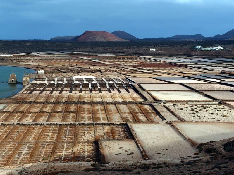 "View over the salt fields ""Salinas del Janubio"" on Lanzarote, Canary islands (Photo: Janka)"
