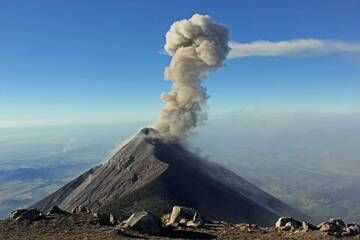 1. Volcan Fuego 3963m, From The Summit Of Volcan Acatenango  3993m, Guatemala. (Photo: Jay Ramji)