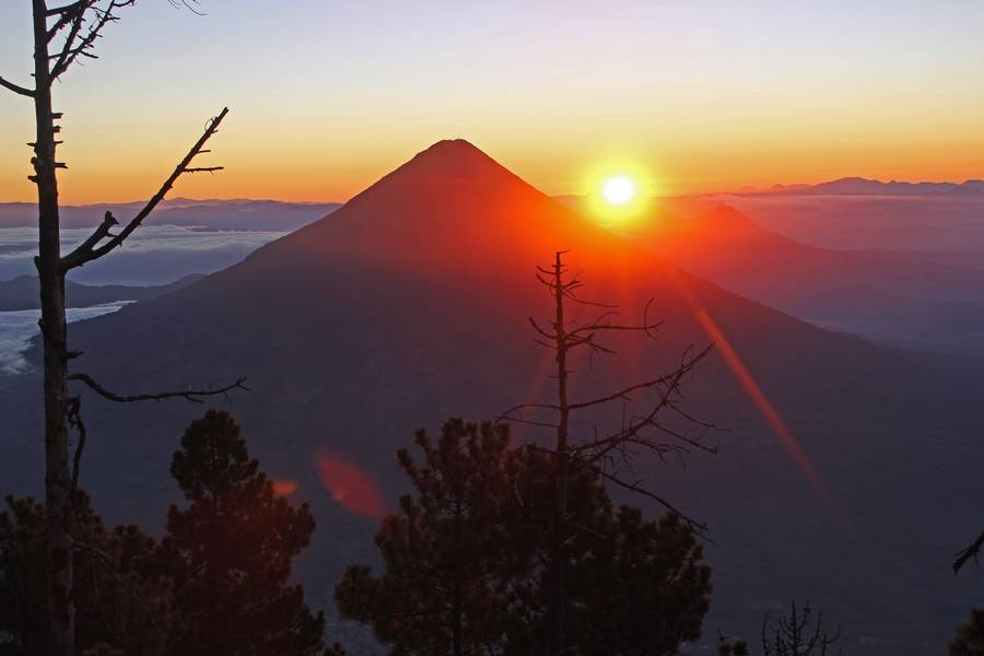 5. Volcan Agua 3760m At Sunrise, From Campsite On Volcan Acatenango 3993m, Guatemala. (Photo: Jay Ramji)