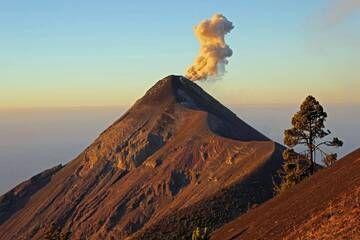 4. Volcan Fuego 3963m At Sunrise, From Near The Summit Of Volcan Acatenango  3993m, Guatemala. (Photo: Jay Ramji)
