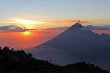 8. Volcan Santa Maria 3750m At Sunset From Near The Summit Of Volcan Zunil 3542m, Guatemala. (Photo: Jay Ramji)