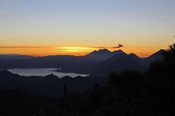 9. Volcanoes Around Lake Atitlan At Sunrise(San Pedro, Atitlan, Toliman And At The Back Fuego, Acatenango And Agua), From Near The Summit Of Volcan Zunil 3542m, Guatemala. (Photo: Jay Ramji)