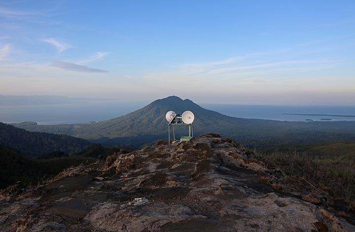 View Of Gunung Mamuya And Monitoring Equipment, Gunung Dilekene , Halmahera, North Maluku, Indonesia (Photo: Jay Ramji)