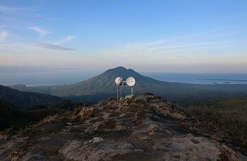 View Of Gunung Mamuya And Monitoring Equipment, Gunung Dilekene , Halmahera, North Maluku, Indonesia (Photo: Jay Ramji)