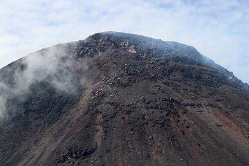 Lava Dome Of Gunung Soputan From The Rim Of Aesoput Tephra  Cone ('Anak' Soputan), North Sulawesi, Indonesia (Photo: Jay Ramji)