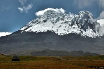 Snow-covered Antisana stratovolcano in Ecuador (Aug 2016) (Photo: Jiri VonDrak)