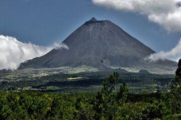 The basaltic stratovolcano Pico Alto (2351 m) on the Azores (Photo: Jiri VonDrak)