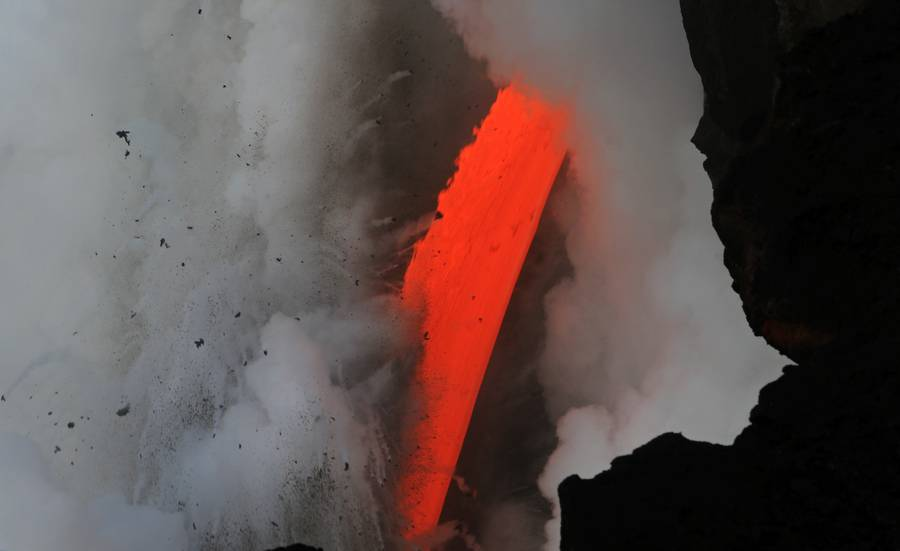 Kilauea Lava Hose by day. (Photo: KatSpruth)