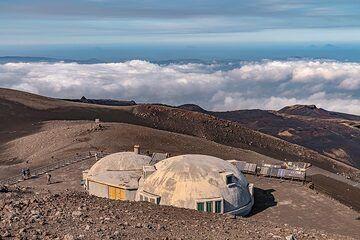The volcanological observatory of Etna at Pizzi Deneri (Photo: Markus Heuer)