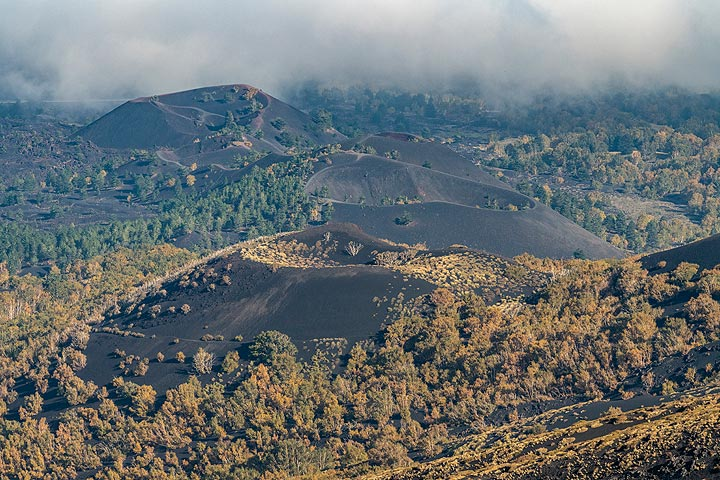 Monti Sartorius cinder cones on Etna's NE flank, formed during a large flank eruption in 1865. (Photo: Markus Heuer)