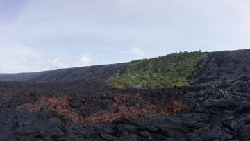 Wide-angle view of the lava flow arriving in the coastal plain. (Photo: Michael Dalton)