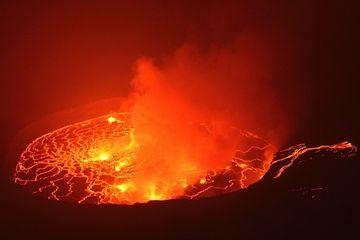 The lava lake at night (Photo: Michael Wareham)
