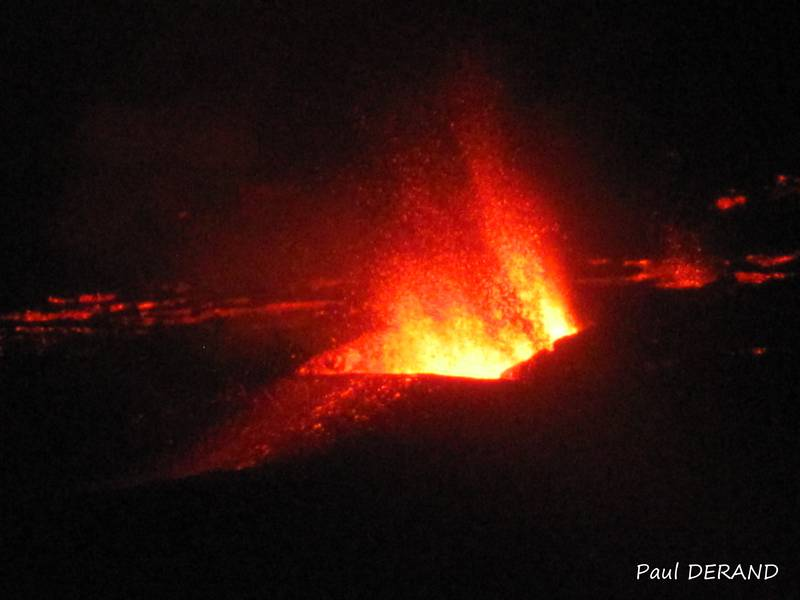 Eruption of Piton de la Fournaise on 31 July 2015 (Photo: PaulDerand)