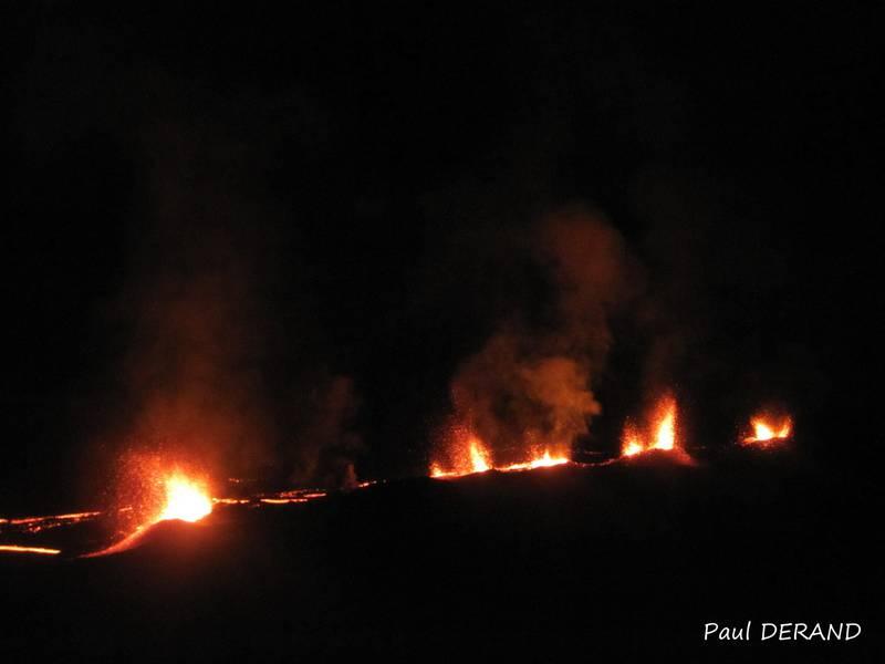 Eruption of Piton de la Fournaise on 31 July 2015 (Photo: PaulDerand)