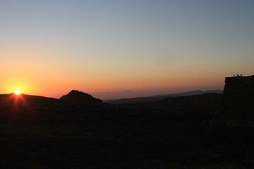 Sunrise over the caldera on 17 Jan. Another exciting day lies ahead... (Photo: Paul Reichert)