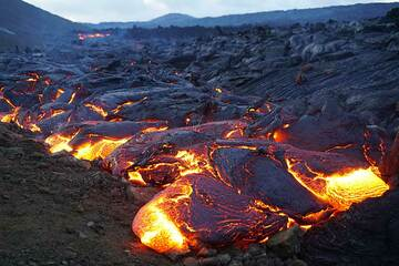 Active margin of pahoehoe lava flow field (Photo: Ronny Quireyns)