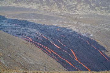 Lava flows going down the rampart towards Nátthagi Valley (Photo: Ronny Quireyns)