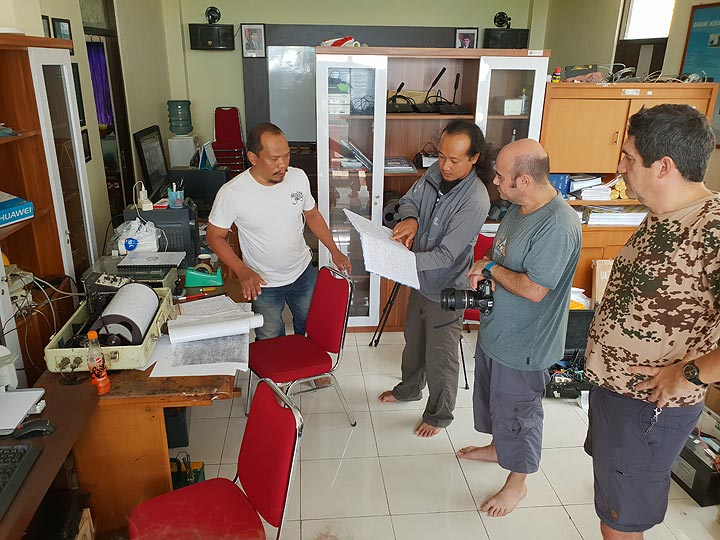 Visiting the volcano observatory in Carita (Photo: Ronny Quireyns)