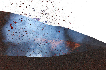 Active cone of a volcano Plosky Tolbachik (May-2013) (Photo: Sergey Krasnoshchokov)