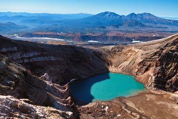 The lake in a crater of Gorely volcano (Sep-2013) (Photo: Sergey Krasnoshchokov)