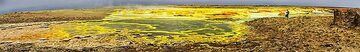 Dallol panorama with green ponds (c)