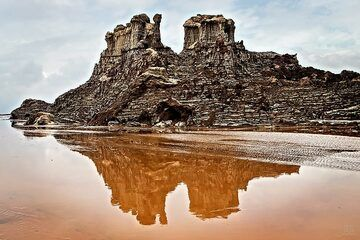 The pitcure that should not be... Salt towers at Dallol, the hottest and driest place on earth, soaked with water from heavy rain (c)