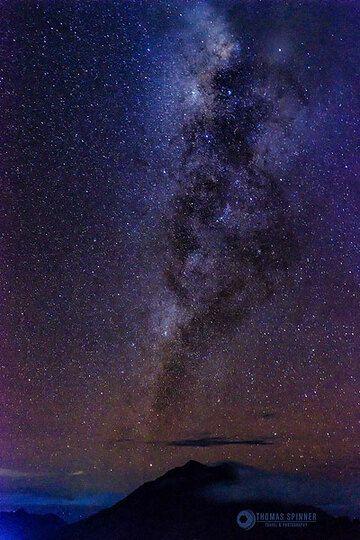Milky way above Siau Island (Photo: Thomas Spinner)