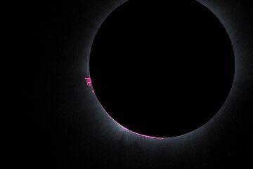 Protuberances during full eclipse. (Photo: Tilmann)