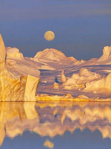 island colours - full moon over ice laguna (Photo: Tom222)