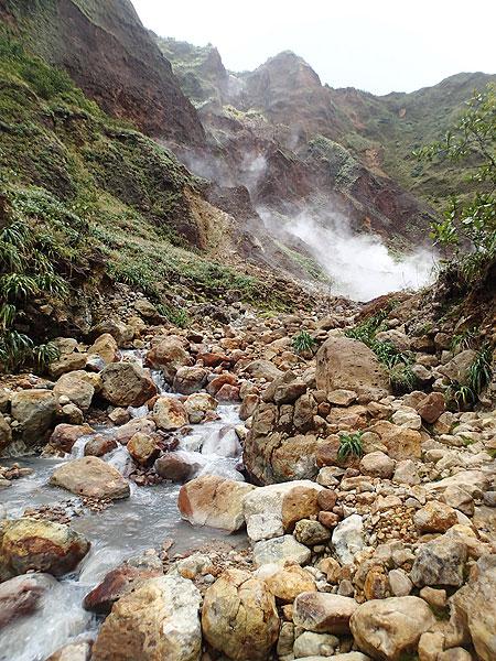 Hot river, sulphur steam, Dominica (Photo: Ursula Lehmann)