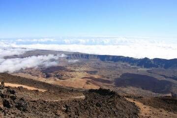 Lava flow and panoramic view from Pico del Teide, Teneriffa Isl., Canaries (Photo: WNomad)