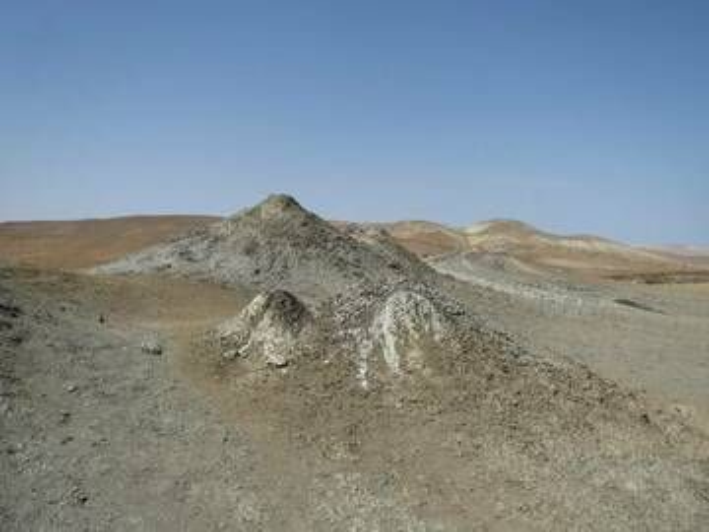 Mud volcanoes near Qobustan, Azerbaijan (Photo: WNomad)