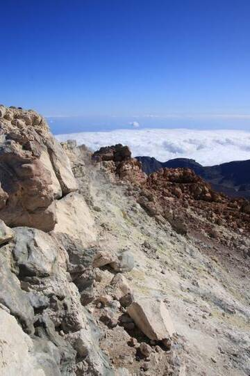 Fumarole at top of highest mountain in Spain and highest volcano in Europe, Pico del Teide (3718m), Tenerife, Canary Islands (Photo: WNomad)