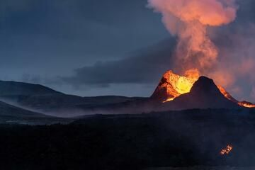 The active cone of the Fagradalsfjall volcano eruption in Iceland in June 2021 (Photo: World-Geographic)
