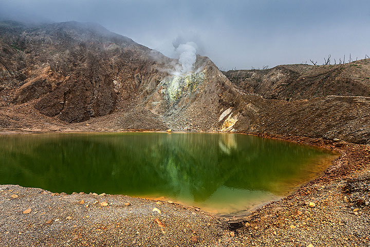 Crater lake at Papandayan (Photo: Uwe Ehlers / geoart.eu)