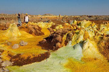 Yellow salt springs at Dallol, Ethiopia (Photo: jimkeir)