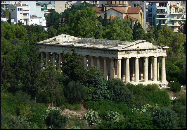 The temple of Ephaistos in Athens, tribute  to the God of Volcanoes. (Photo: Nathalie Livingstone)