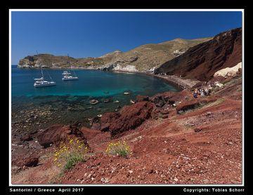 Red beach near Akrotiri, Santorini (Greece) - an old cinder cone exposed by erosion (Photo: Tobias Schorr)