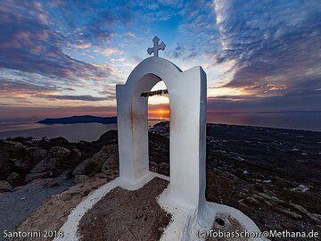 Sunset at Zoodohos Pigis chapel. (Photo: Tobias Schorr)