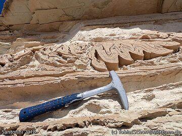 Turbulences in a fossile mud flow. (Photo: Tobias Schorr)