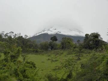 Tungurahua, Ecuador. October, 2012 (path of pyroclastic flows on right flank). (Photo: volcanomike)