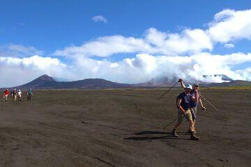 Crossing the Ambrym caldera (Photo: Yashmin Chebli)