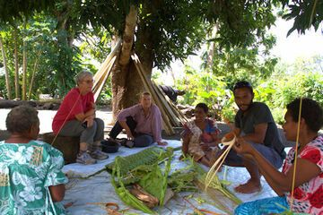 Watching preparations for laplap (Photo: Yashmin Chebli)