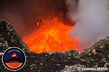 Lava lake inside Niri-Mbwelesu crater (Photo: Yashmin Chebli)
